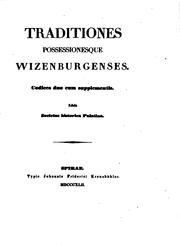 Cover of: Traditions Possessionesque Wizennburgenses
