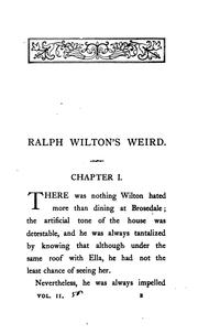 Cover of: Ralph Wilton
