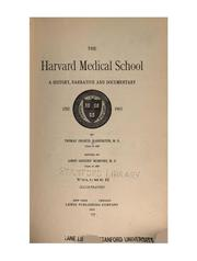Cover of: The Harvard Medical School v. 1