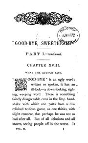 Cover of: 'Good-bye, sweetheart!' 3 vols