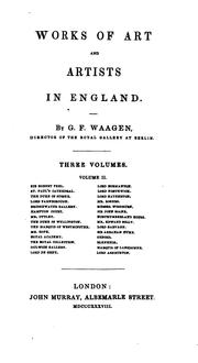 Cover of: Works of art and artists in England