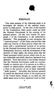 Cover of: National Supremacy: Treaty Power Vs. State Power
