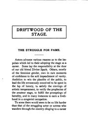 Cover of: Driftwood of the Stage