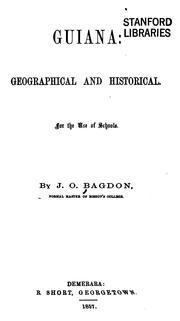 Cover of: Guiana, Geographical and Historical: For the Use of Schools