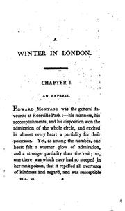 Cover of: a winter in london or sketches of fashion