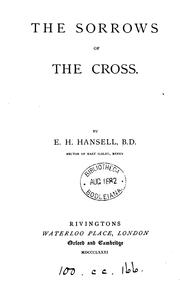 Cover of: The sorrows of the Cross