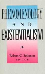 Cover of: Phenomenology and existentialism |