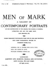 Cover of: men of mark a gallery of contemporary portraits of men distinguished in the senate, the church ..