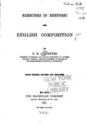 Cover of: Exercises in Rhetoric and English Composition