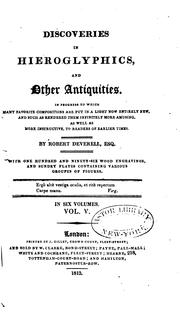 Cover of: Discoveries in Hieroglyphics and Other Antiquities