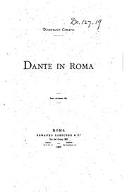 Cover of: Dante in Roma ..