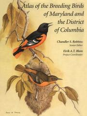 Cover of: Atlas of the breeding birds of Maryland and the District of Columbia |