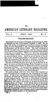 Cover of: The American Literary Magazine
