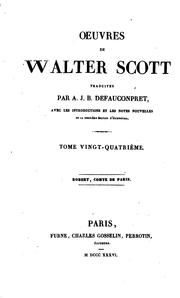 Cover of: oeuvres de walter scott