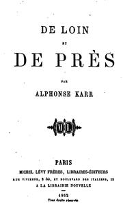 Cover of: De loin de près