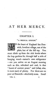 Cover of: At her mercy, by the author of 'Lost sir Massingberd'