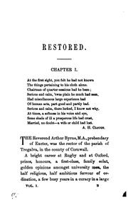 Cover of: Restored, by the author of 'Son and heir'