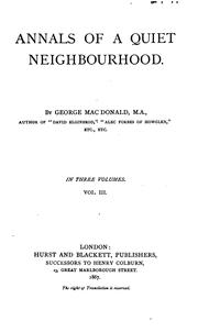 Cover of: George MacDonald
