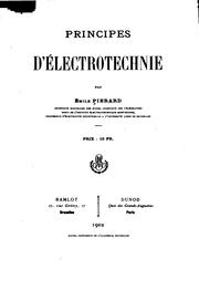 Cover of: Principes d'électrotechnie