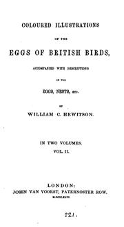 Cover of: Coloured illustrations of the eggs of British birds, with descriptions