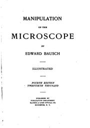 Cover of: Manipulation of the Microscope