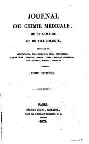 Cover of: Journal de Chimie Medicale