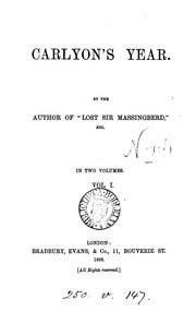 Cover of: Carlyon's year, by the author of 'Lost sir Massingberd'