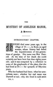 Cover of: The mystery of Ashleigh manor