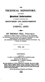 Cover of: THE TECHNICAL REPOSITORY