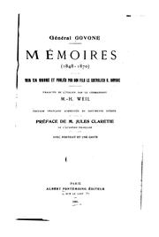 Cover of: Mémoires (1848-1870)
