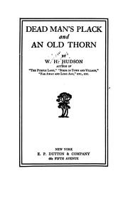 Cover of: Dead man's Plack and an old thorn