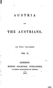 Cover of: Austria and the Austrians