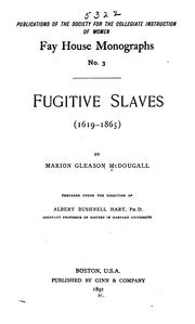 Cover of: Fugitive Slaves (1619-1865)