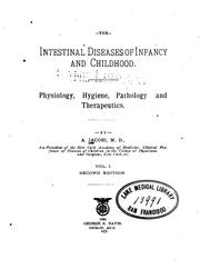 Cover of: The Intestinal diseases of infancy and childhood v.2 | A. Jacobi