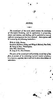 Cover of: A Treatise on Descriptive Geometry: For the Use of the Cadets of the United States Military Academy