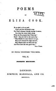 Cover of: Poems in 3 (4) Vols | Eliza Cook