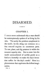 Cover of: Disarmed, by the author of