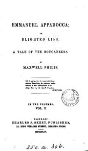 Cover of: Emmanuel Appadocca; or, Blighted life: a tale of the Boucaneers