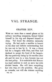 Cover of: Val Strange | David Christie Murray