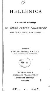 Cover of: Hellenica: essays on Greek poetry, philosophy, history and religion, ed. by E. Abbott