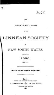 Cover of: The Proceedings of the Linnean Society of New South Wales | Linnean Society of New South Wales