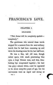 Cover of: Francesca's love