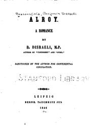 Cover of: Alroy: A Romance