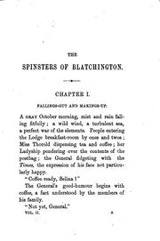 Cover of: The spinsters of Blatchington