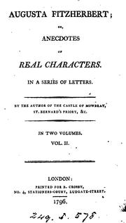 Cover of: Augusta Fitzherbert; or, Anecdotes of real characters, letters, by the author of The castle of ..