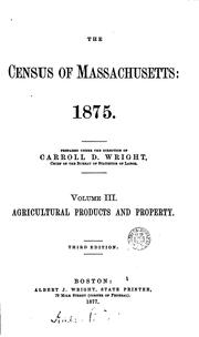 Cover of: The census of Massachusetts: 1875