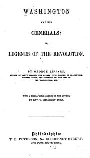 Cover of: Washington and His Generals: Or, Legends of the Revolution
