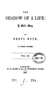 Cover of: The shadow of a life: A Girl's Story