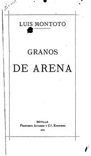 Cover of: Granos de arena: Poesías
