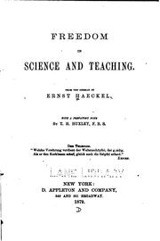 Freedom in science and teaching by Ernst Haeckel